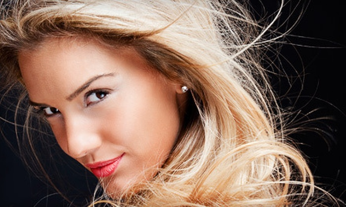 Club Ronaldo Hair & Spa - Calgary: Haircut, Blow-Dry, and Oil Treatment with Partial Highlights or Full Colour at Club Ronaldo Hair & Spa (Up to 61% Off)
