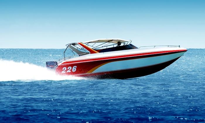 Beach Island Marina - Beach Island Marina: 10-Hour Speedboat or Pontoon-Boat Rental at Beach Island Marina (Up to 47% Off). Three Options Available.