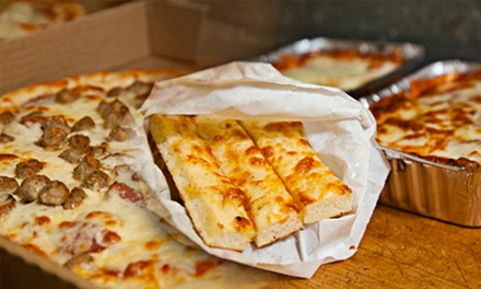 $16.50 for $30 Worth of Pizza, Wings, and Pasta at Chris's 2 for 1 Pizza
