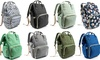 Multi-Purpose Water-Resistant Diaper Bag Backpack