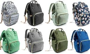 Multi-Purpose Water-Resistant Diaper Bag Backpack