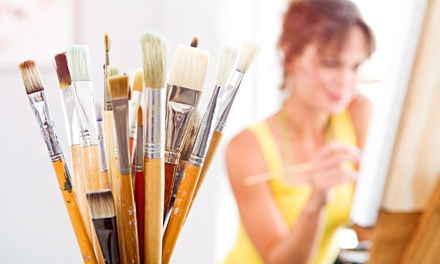 Painting Class for One or Two with Supplies and a Complimentary Wine, Beer or Soda at Creative Juice (46% Off)