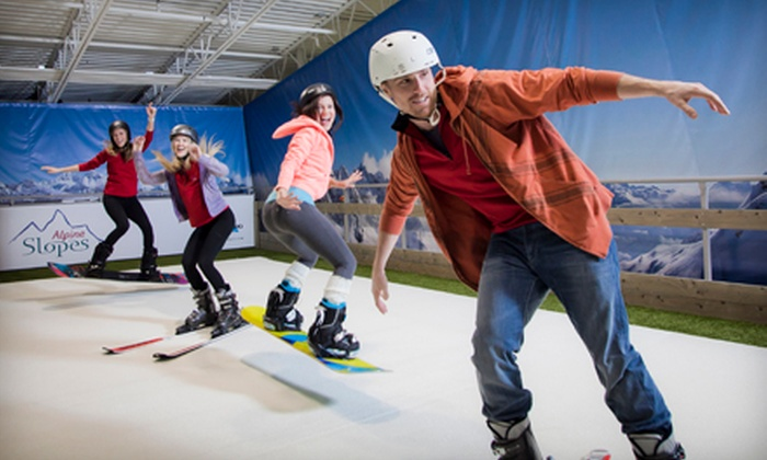 Alpine Slopes - Mississauga: Indoor Skiing and Snowboarding with Instruction and Equipment Rental for up to Six at Alpine Slopes ($180 Value)
