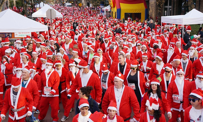 North Texas Great Santa Run - Dr Pepper Snapple Group Headquarters: One Child or Adult Registration for 5k Run or One-Mile Fun Walk at North Texas Great Santa Run (34% Off)