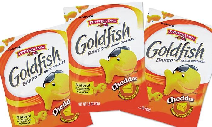 Pepperidge Farm Cheddar Goldfish Crackers: Pepperidge Farm Cheddar Goldfish Crackers 72-Count