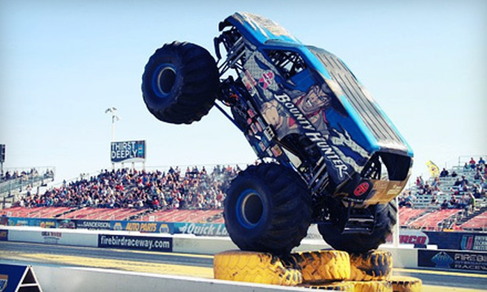 NAPA Auto Parts Monster Truck Nationals & Jet Car Jam - St. Johns: VIP Package to NAPA Auto Parts Monster Truck Nationals & Jet Car Jam in Chandler on April 21 or 22 (Up to 57% Off)
