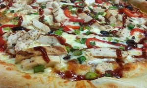 Flying Saucer Pizza Company: Gourmet Pizza at Flying Saucer Pizza Company (46% Off). Two Options Available.