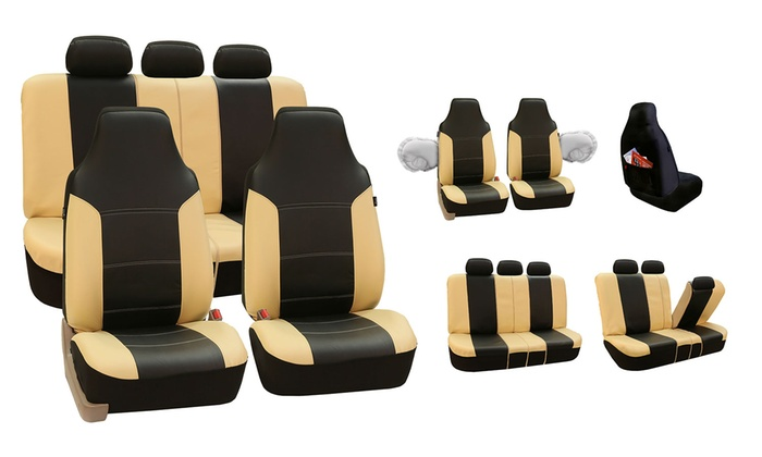 Deluxe Leatherette Seat Covers Groupon Goods
