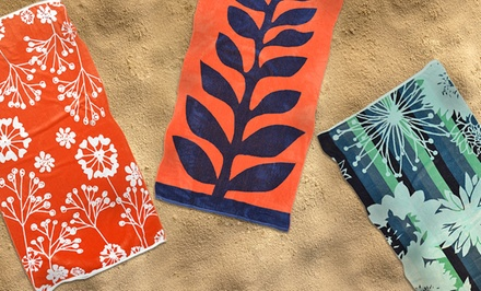 Oversized 450 GSM 100% Cotton Velour Beach Towel