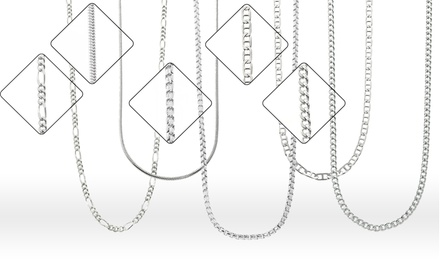 Italian Sterling Silver Chain Necklaces from $18.99–$21.99