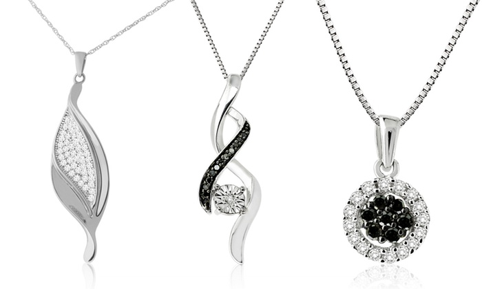 La4ve Diamonds Black and White Diamond Pendants: Black and White Diamond Pendants (Up to 47% Off). Assorted Styles Available. Free Shipping and Returns.
