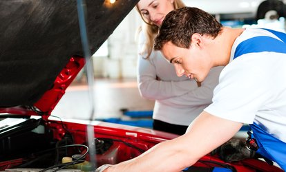 $49 Full Car Engine Service and Safety Check, or $149 with Transmission Service at Motorcraft Repairs (Up to $600 Value)
