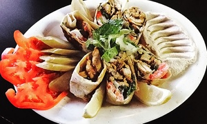 Dijla Cafe: Middle Eastern Food at Dijla Cafe (40% Off). Two Options Available.