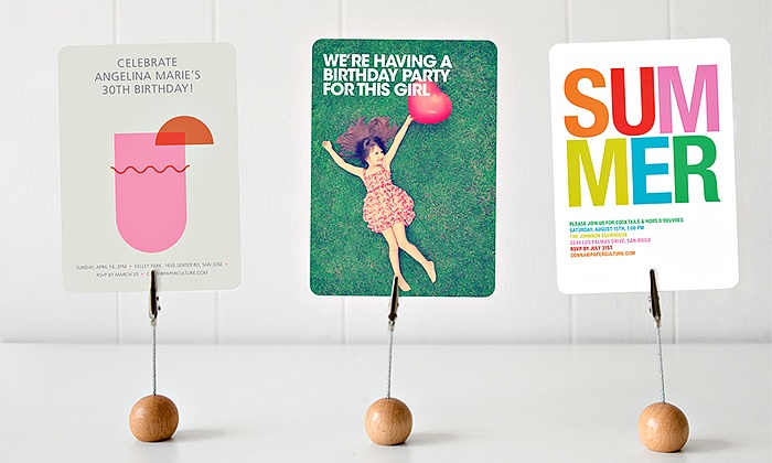 Paper Culture: $15 for $50 Worth of Custom Cards from Paper Culture