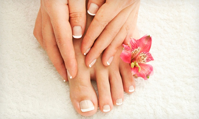 Spa Cafe - Grey Gables/Bon Air: One or Three Espresso Mani-Pedis at Spa Cafe (Up to 54% Off)