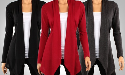 3-Pack of Hacci Draped Cardigans