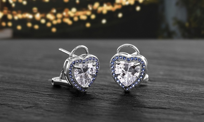 4ec91f3e5 Up To 72% Off on Nina & Grace Sapphire Earrings   Groupon Goods