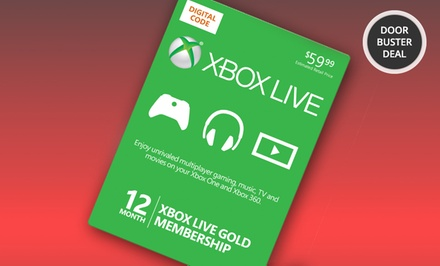 12-Month Xbox Live Gold Card and $10 in Groupon Bucks now $59.99 (was $69.99)