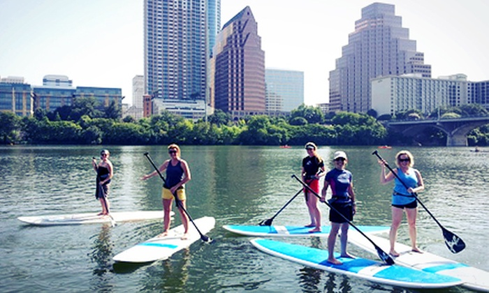 Austin Paddle Sports - Bouldin: Four or Eight 60-Minute Standup-Paddleboard Rentals from Austin Paddle Sports (Up to 63% Off)