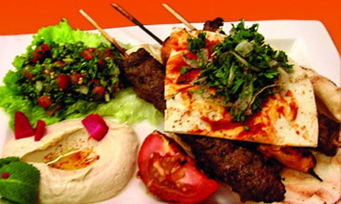 Falafel House - Upper Darby: $15 for a Middle Eastern Meal with Appetizer and Entrees for Two at Falafel House (Up to $30.15 Value)