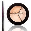 Manna Kadar Cosmetics Concealer Trio with Brush