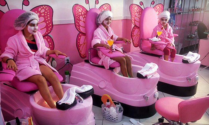 Kids 39 spa package or party mommy me salon groupon for A little off the top salon