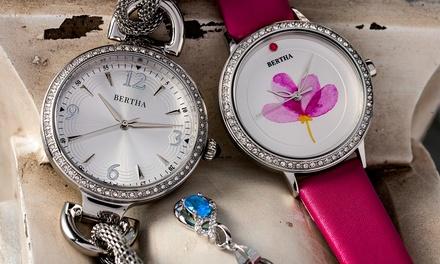 Bertha Crystal Bezel Watch
