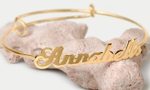 Adjustable Personalized Name Bangle at Adjustable Personalized Name Bangle, plus 6.0% Cash Back from Ebates.
