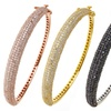 Sterling Silver or 18K Gold-Plated Micropave Cubic Zirconia Bracelets