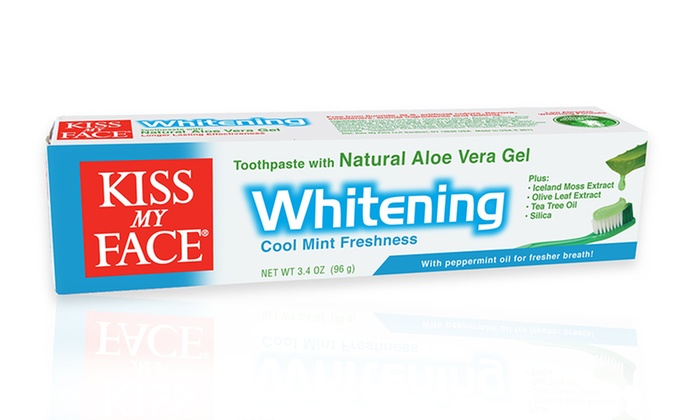 Kiss My Face Whitening Toothpaste (12-Pack): Kiss My Face Whitening Fluoride-Free Toothpaste; 12-Pack of 3.4oz. Tubes + 5% Back in Groupon Bucks