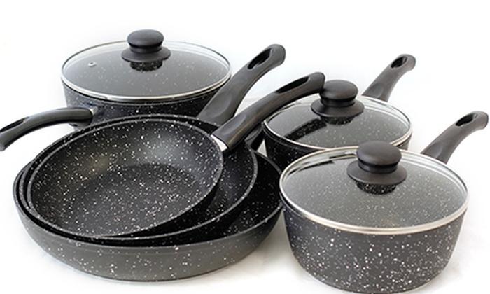 marble stone cookware set groupon goods. Black Bedroom Furniture Sets. Home Design Ideas
