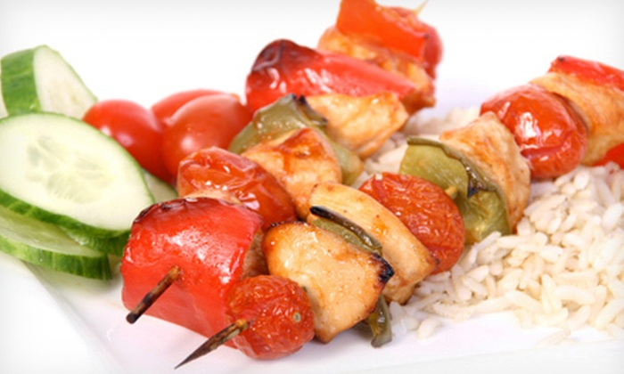 B'zu Café - Mountain View South: Mediterranean Dinner for Two or Four at B'zu Café in Mountain View (Up to 60% Off)