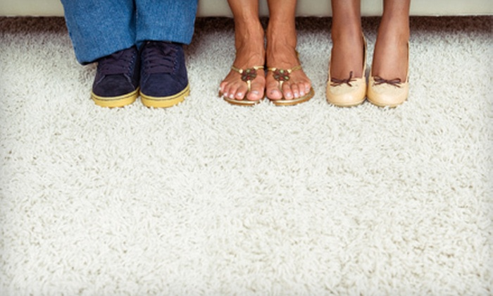 Heavenly Carpet Cleaners - Raleigh / Durham: $65 for Four Rooms of Carpet Cleaning from Heavenly Carpet Cleaners (Up to $130 Value)
