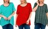 Women's Plus Size Lace Back Asymmetrical Top: Women's Plus Size Lace Back Asymmetrical Top
