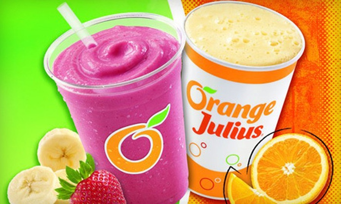 Dairy Queen - London: Two Julius Originals or Premium Fruit Smoothies, or One Ice-Cream Cake at Dairy Queen (Up to 52% Off)