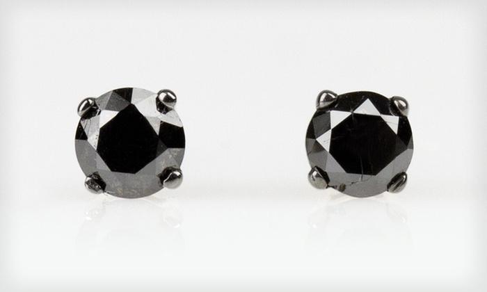 Half-Carat Black-Diamond Stud Earrings: $49 for Half-Carat Black-Diamond Stud Earrings ($175 List Price). Free Shipping.