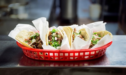 Mexican Food at Burritos Grill (50% Off). Two Options Available.