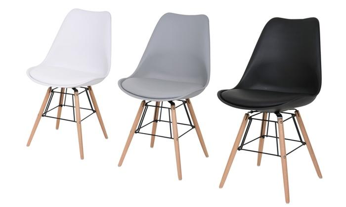 Chaise Design Beech Avec Coussin