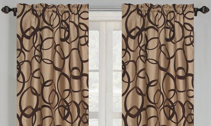 Pair of Flocked Window Panels: Pair of Flocked Window Panels. Multiple Options Available. Free Returns.