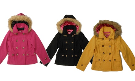 Dollhouse Girls' Wool Peacoats. Multiple Colors Available.