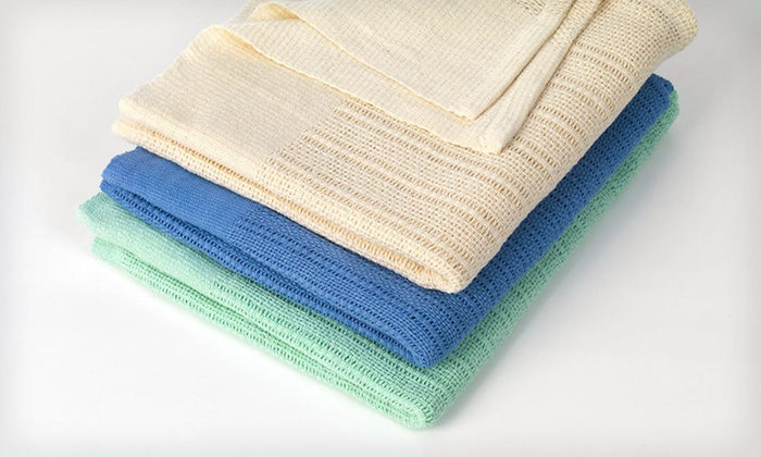100% Cotton Thermal Throw: $15 for a 100% Cotton Thermal Throw ($25 List Price). Three Colors Available. Free Shipping and Free Returns.