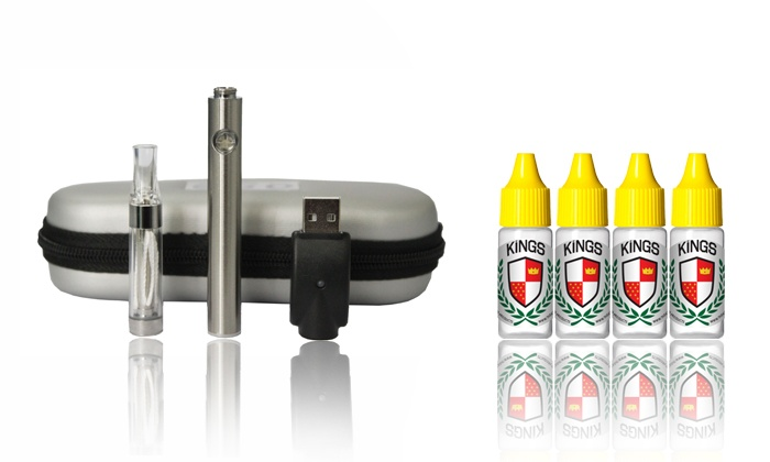 KINGS eLiquid & eCigarette: E-Cigarette Starter Kit or E-Liquid from KINGS eLiquid & eCigarette (52% Off)