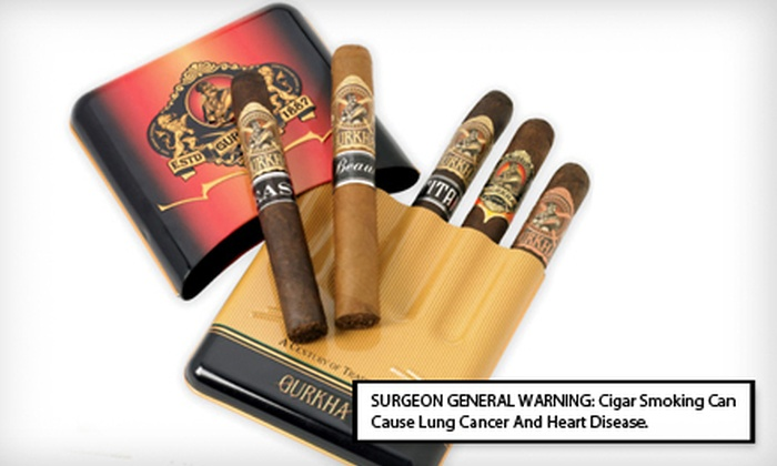 Gurkha Cigar Samplers: $49 for a Crest Metal Sampler from Gurkha Cigars with Shipping Included ($130.65 Total Value)