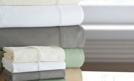 Martex 500-Thread-Count Swiss Dot Cotton-Rich Sheet Set from $49.99–$64.99