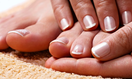 Two Groupons, Each Good for One No-Chip Manicure or No-Chip Pedicure at The Pink Nail & Spa (Up to 46% Off)