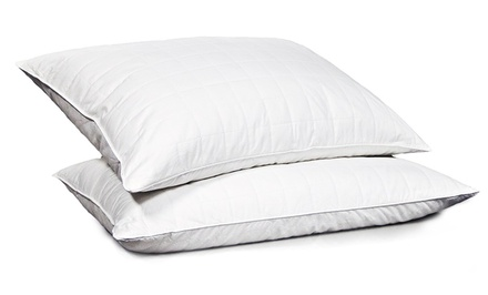 2-Pack Hotel Peninsula Quilted Feather Pillows with Option for Gusset