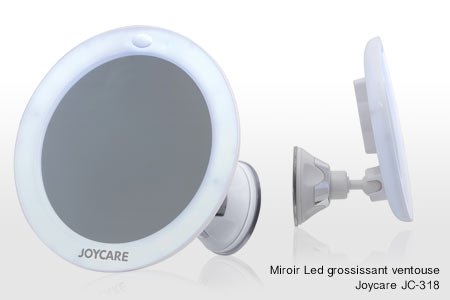 Miroirs led grossissants groupon shopping for Miroir ventouse grossissant