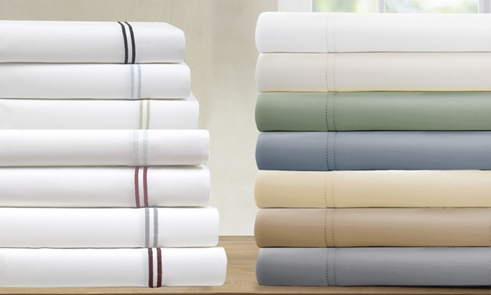 1000tc italian hotel collection cottonrich sheet set 4piece or 6