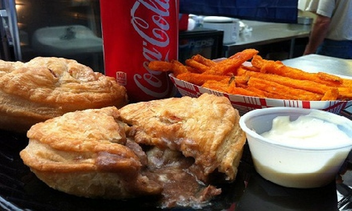 Cheeky Meat Pies - Webster Station: Pie Lunch for Two with Sides and Soft Drinks, or $12 for $24 Worth of New Zealand–Style Pies at Cheeky Meat Pies