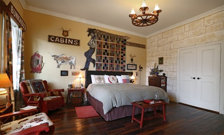 groupon daily deal - 1- or 2-Night Stay in Any Room or Suite at Crescent Quarters in Boerne, Texas